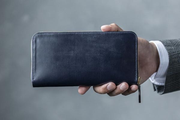 crafsto Bridle Leather ラウンドファスナー長財布